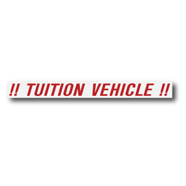 !! TUITION VEHICLE !!